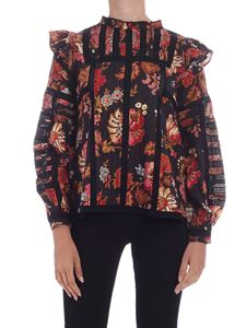 Sea New York - Pascale printed blouse in black