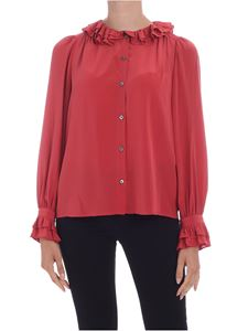 Sea New York - Sinclair silk shirt in red