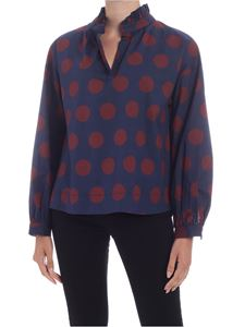 Sea New York - Penny blouse in blue and wine color