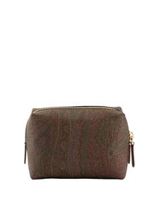 Etro - Beauty case with Paisley motif in brown