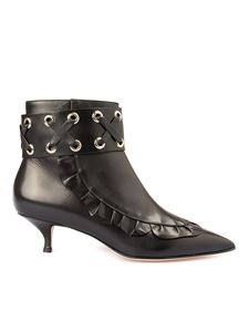 Red Valentino - Leather ankle boots with zip in black