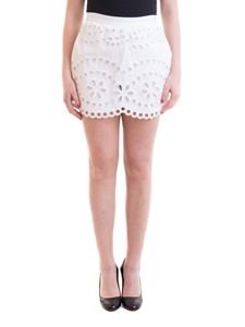 Red Valentino - Broderie anglaise gabardine shorts in white