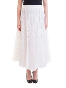 Red Valentino - Lace circle skirt in white