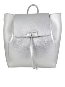 Patrizia Pepe - Pepe City medium backpack in silver