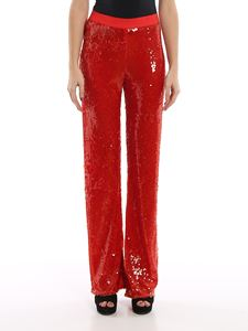 Patrizia Pepe - Tulle sequins pants in red