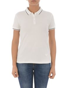 Emporio Armani - Contrasting detail polo shirt in white