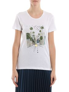 Patrizia Pepe - Los Angeles print t-shirt in white