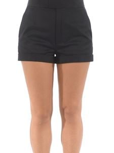 Dsquared2 - High waist cotton twill shorts in black