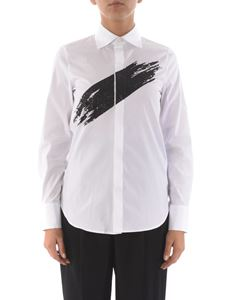 Dsquared2 - Glitter print cotton shirt in white
