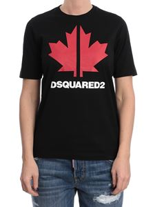 Dsquared2 - Maple leaf printed T-shirt in black