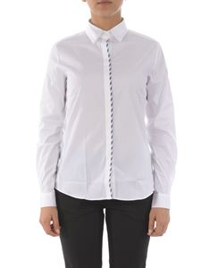 Fay - Contrasting detail shirt in white