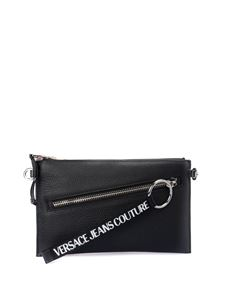 Versace Jeans Couture - Logo detail clutch in black