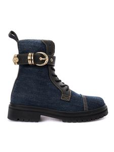 Versace Jeans Couture - Stivaletti in denim blu