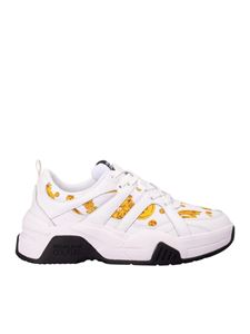 Versace Jeans Couture - Jewel print sneakers in white