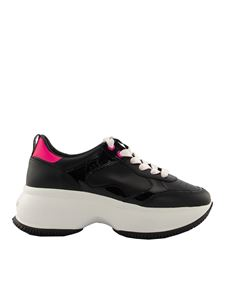 Hogan - Maxi I Active sneakers in black and fuchsia