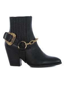 Versace Jeans Couture - Leather camperos boots in black