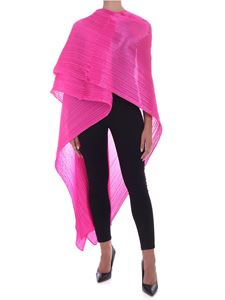 PLEATS PLEASE Issey Miyake - Colorful Madame stole in fuchsia