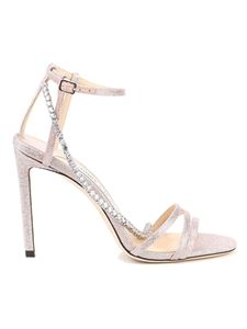 Jimmy Choo - Thaia 100 crystal chain sandals in pink