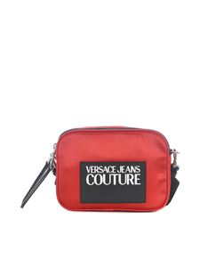 Versace Jeans Couture - Rubber logo patch shoulder bag in red