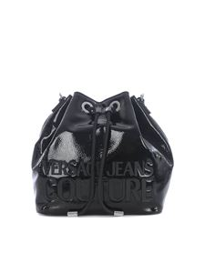 Versace Jeans Couture - Rubber logo bucket bag in black