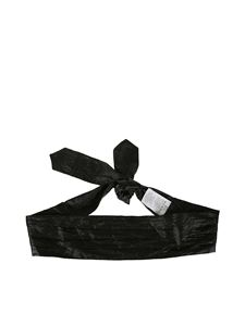 Philosophy di Lorenzo Serafini - Laminated fabric belt in black