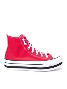 Converse - Chuck Taylor Platform red sneakers