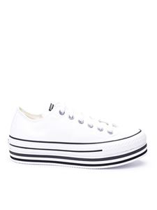 Converse - Chuck Taylor Platform sneakers in white