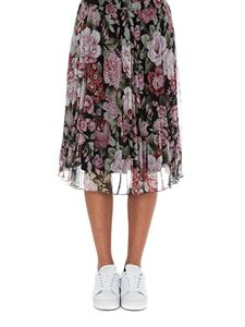 Parosh - Pleated skirt with flower print