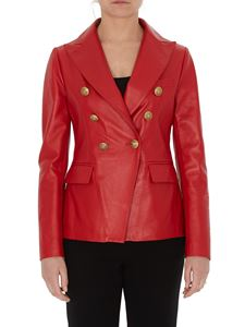 Tagliatore - Lizzie double breasted jacket in red