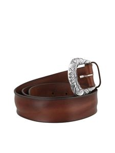 Orciani - Bull Soft leather belt in brown