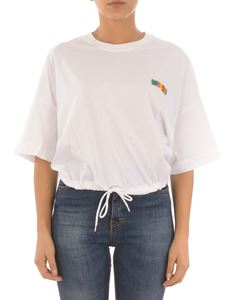 Moschino - Multicolor logo t-shirt with drawstring