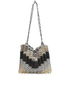 Paco Rabanne - Faded effect metal bag in gold color