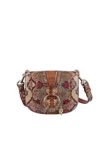 See by Chloé - Hana python print leather bag in brown
