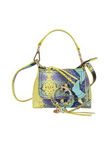 See by Chloé - Joan small python print bag in yellow
