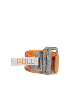 Heron Preston - Orange nylon belt with reflective detail