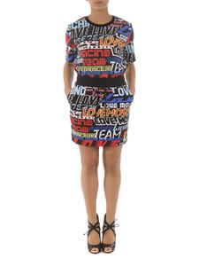 Love Moschino - Gonna a stampa Logo Racing
