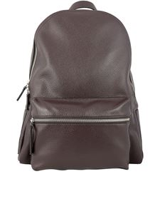 Orciani - Micron leather backpack in brown