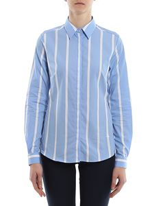 Fay - Striped shirt in light blue