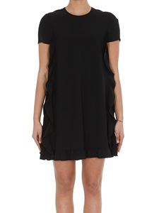 Red Valentino - Ruffles dress in black