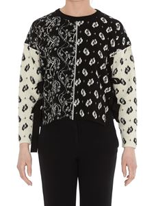 Kenzo - Cut-out bow detail two-tone cardigan
