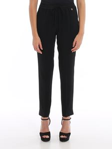 Twin-Set - Crepe envers satin pants in black