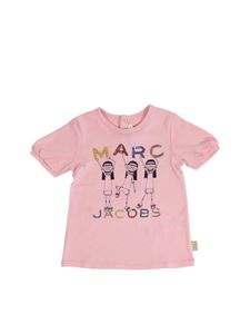 Little Marc Jacobs - Pink t-shirt with sequins