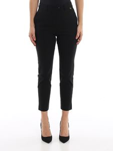 Twin-Set - Technical fabric cropped pants in black