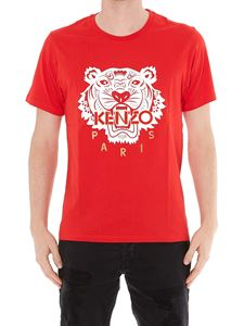 Kenzo - Tiger print T-shirt in red