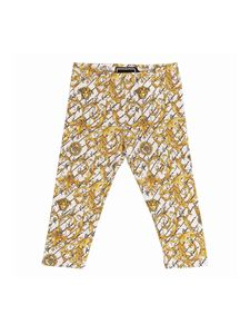 Versace Young - White leggings with baroque print