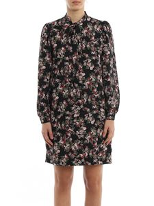 MY TWIN Twinset - Floral printed dress in black
