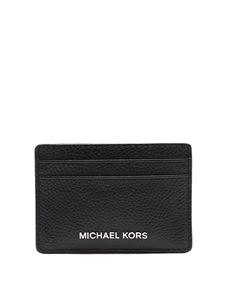 Michael Kors - Hammered leather cardholder in black