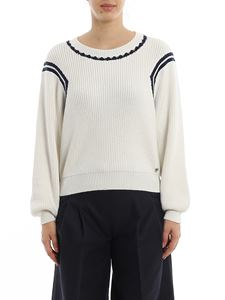 MY TWIN Twinset - Contrasting details crewneck pullover