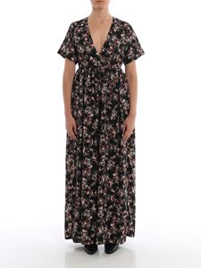 MY TWIN Twinset - Floral print jumpsuit in black