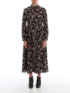 MY TWIN Twinset - Shirt dress with floral print in black